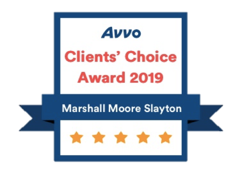 Avvo Client's Choice 2019 - Marshall Moore Slayton